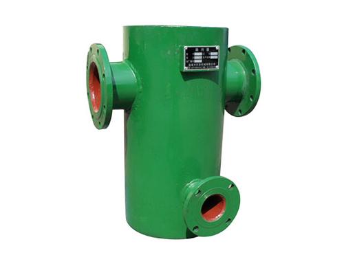 二,设备结构与工作原理 除污器的结构形式按国家标准图r406分为卧式